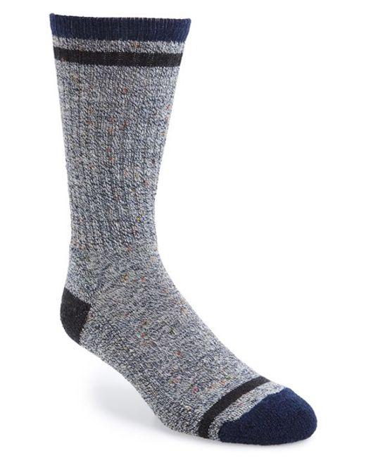 Smartwool Larimer Crew Socks In Grey For Men Lyst