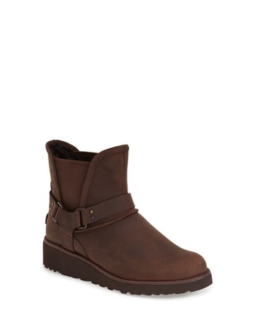 UGG | Brown Glen Water-Resistant Leather Boots | Lyst