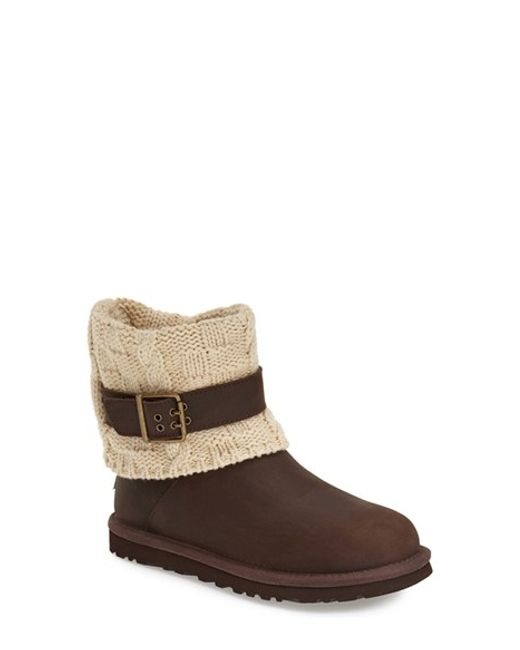 UGG | Brown Ugg 'cassidee' Cable Knit Boot | Lyst