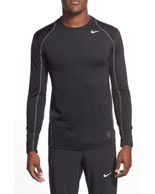 Nike | Black 'pro Coo' Fitted Long Sleeve Dri-fit T-shirt for Men | Lyst