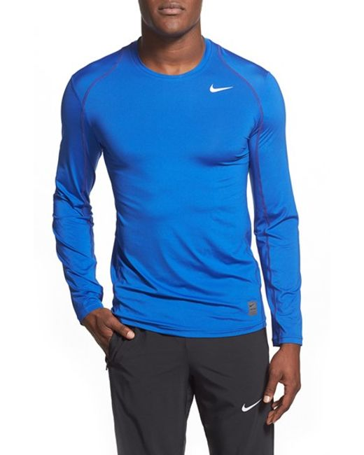 Nike | Blue 'pro Cool Compression' Fitted Long Sleeve Dri-fit T-shirt for Men | Lyst