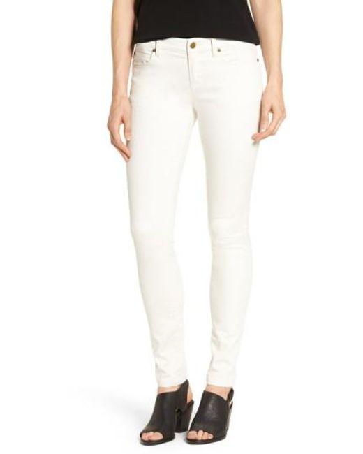 Eileen Fisher | White Organic Cotton Sateen Skinny Jeans | Lyst