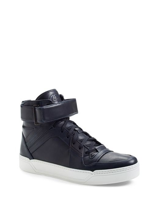 Gucci | Blue 'new Basketball' High Top Sneaker for Men | Lyst