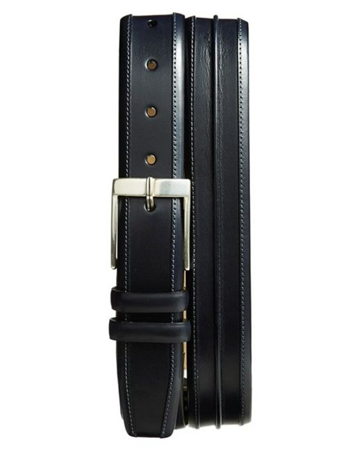 Mezlan | Blue 'parma' Leather Belt for Men | Lyst