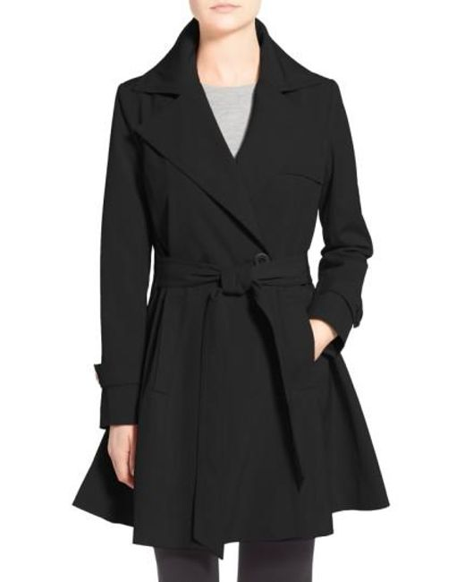 Trina Turk | Black 'phoebe' Double Breasted Trench Coat | Lyst