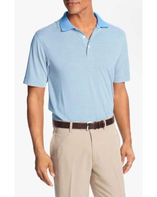 Cutter & Buck   Blue 'trevor' Drytec Moisture Wicking Golf Polo for Men   Lyst