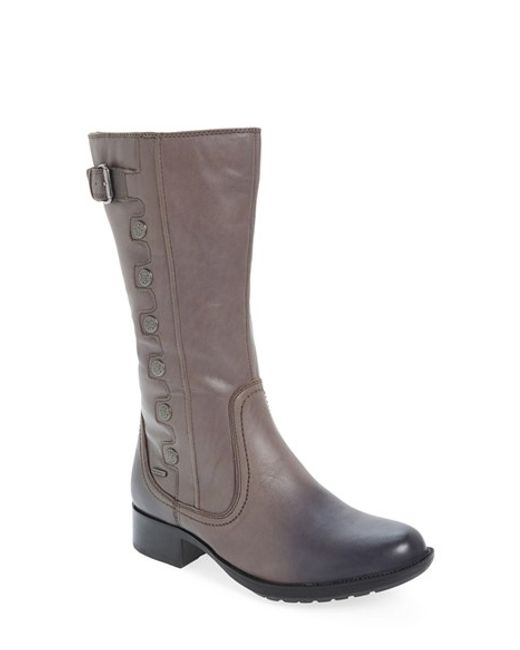 Cobb Hill | Gray 'calista' Riding Boot | Lyst