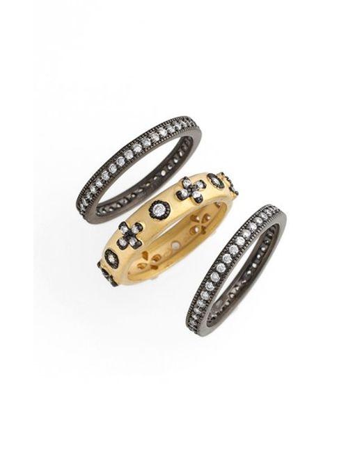 Freida Rothman | Metallic 'metropolitan' Stackable Rings (set Of 3) | Lyst