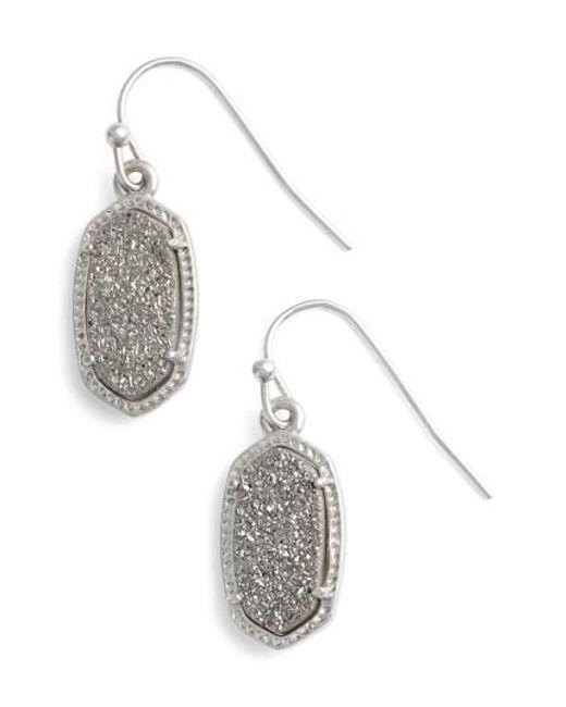Kendra Scott   Metallic 'lee' Small Drop Earrings   Lyst