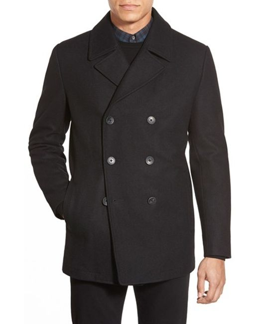 Vince Camuto | Black Classic Peacoat for Men | Lyst