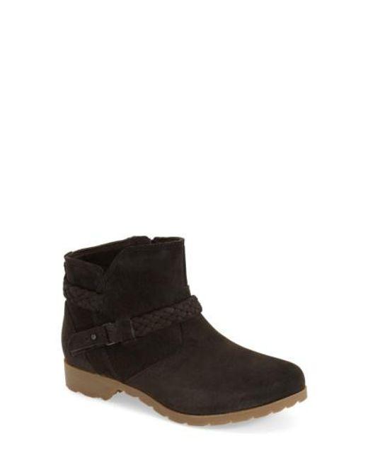 Teva | Black Delavina Suede Ankle Boots | Lyst