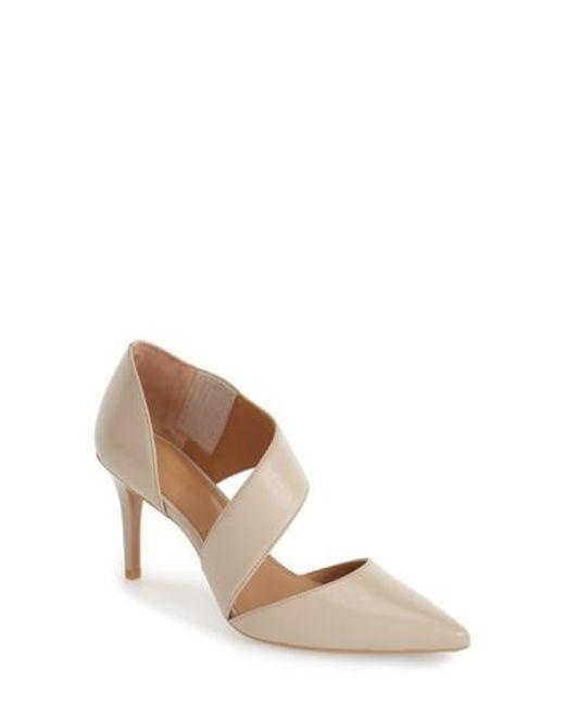 Calvin Klein   Brown 'Gella' Pointy Toe Pump   Lyst