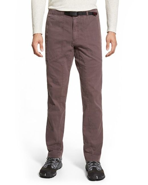 Gramicci | Brown 'freedom G' Stretch Twill Pants for Men | Lyst
