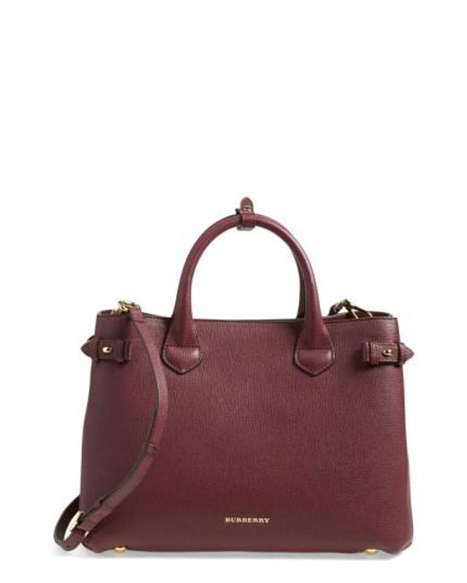 Burberry | Purple 'banner' Tote | Lyst