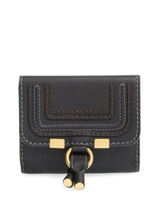 Chloé | Black 'marcie' French Wallet | Lyst
