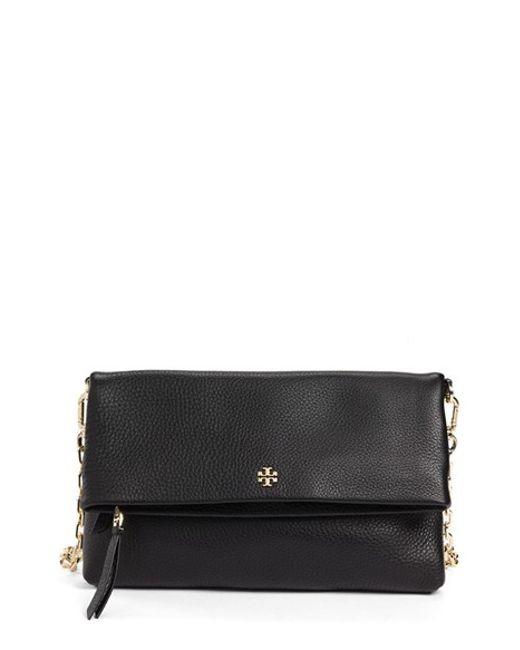 Tory Burch | Black Foldover Crossbody Bag | Lyst