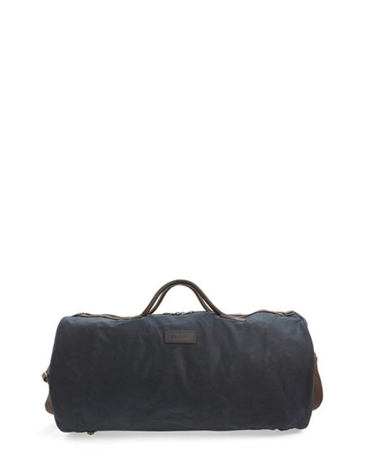 Barbour | Green Waxed Canvas Duffel Bag for Men | Lyst