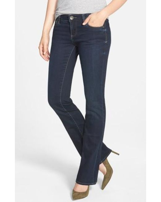 Kut From The Kloth | Blue 'natalie' Stretch Bootcut Jeans (beneficial) | Lyst