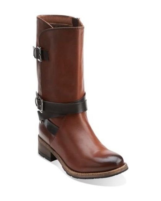 Clarks | Brown Clarks 'volara Melody' Moto Boot | Lyst