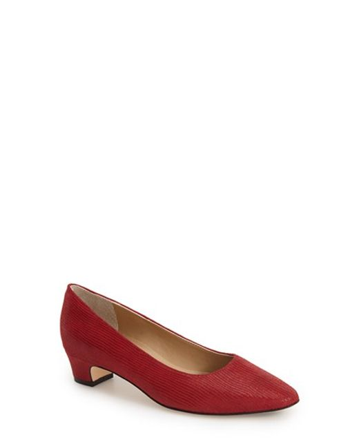 Vaneli | Red 'Astyr' Almond Toe Pump | Lyst