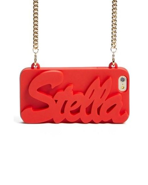 Stella McCartney | Red 'stella' Iphone 6 & 6s Crossbody Chain Case | Lyst