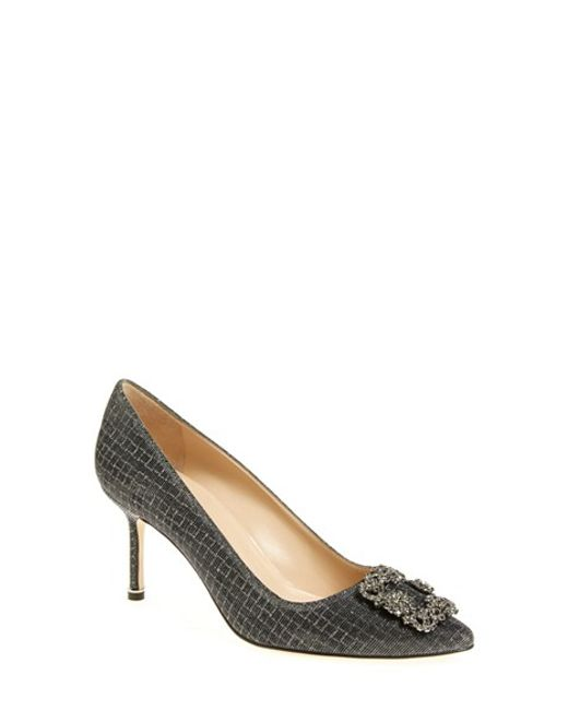 Manolo Blahnik | Black 'hangisi' Pointy Toe Pump | Lyst
