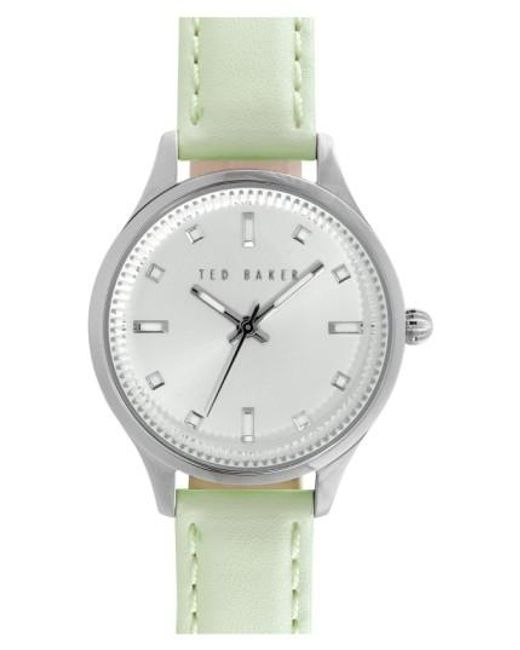 Ted Baker | Green 'dress Sport' Leather Strap Watch | Lyst