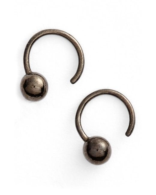 Julien David | Black Coated Earrings | Lyst