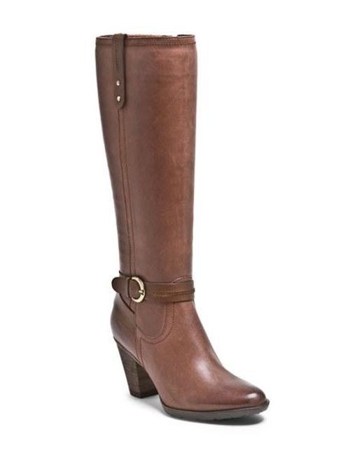 Blondo | Brown Fiby Leather Knee-High Boots  | Lyst