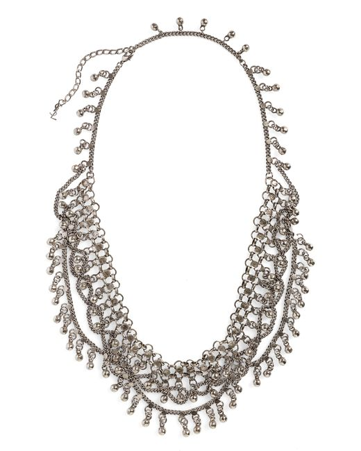 Saint Laurent - Metallic Bell Bib Necklace - Lyst