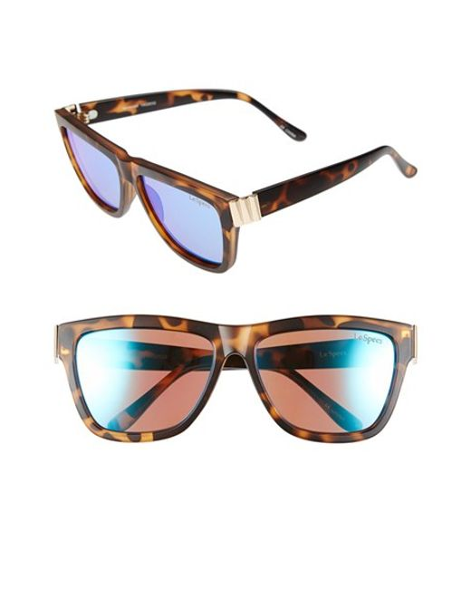 Le Specs | Blue 57mm Flat Top Sunglasses | Lyst