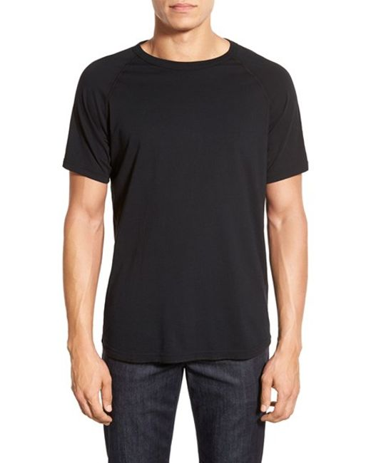 Steven Alan | White Jersey Raglan Crewneck T-shirt for Men | Lyst