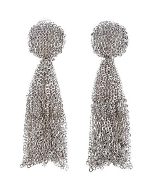 Oscar de la Renta | Metallic 'classic Short' Tassel Chain Drop Earrings | Lyst
