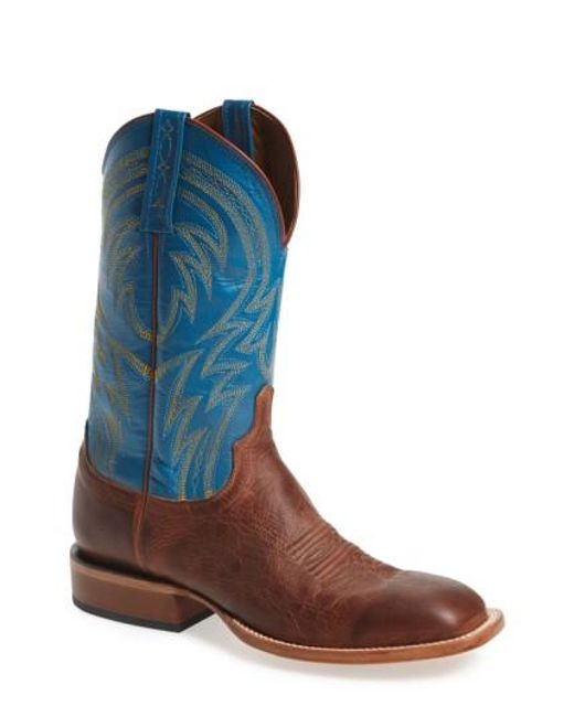 Lucchese | Blue 'alan' Western Boot for Men | Lyst