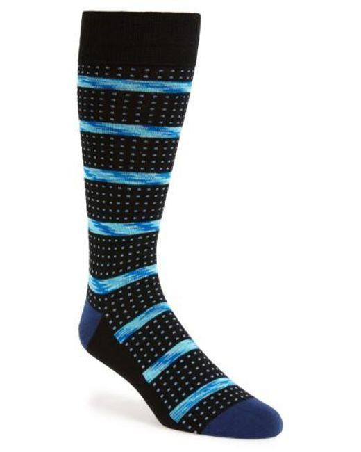 Calibrate | Blue Stripe & Dot Socks for Men | Lyst