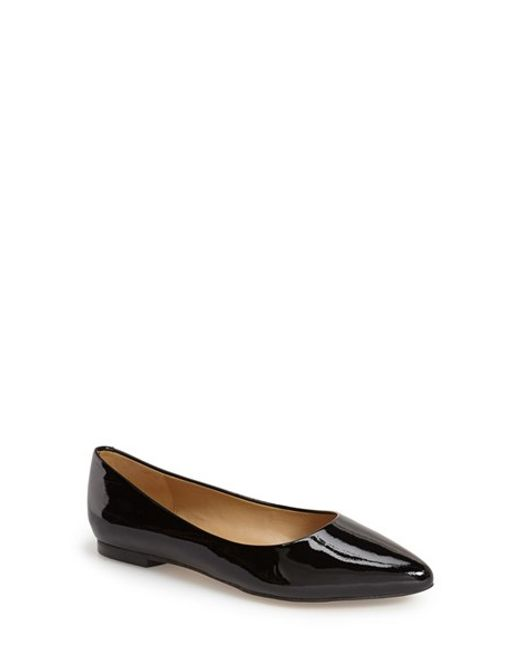 Trotters | Black Estee Pointed Toe Flat | Lyst