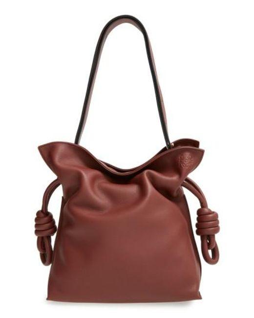 Loewe | Brown Small Flamenco Knot Shoulder Bag | Lyst