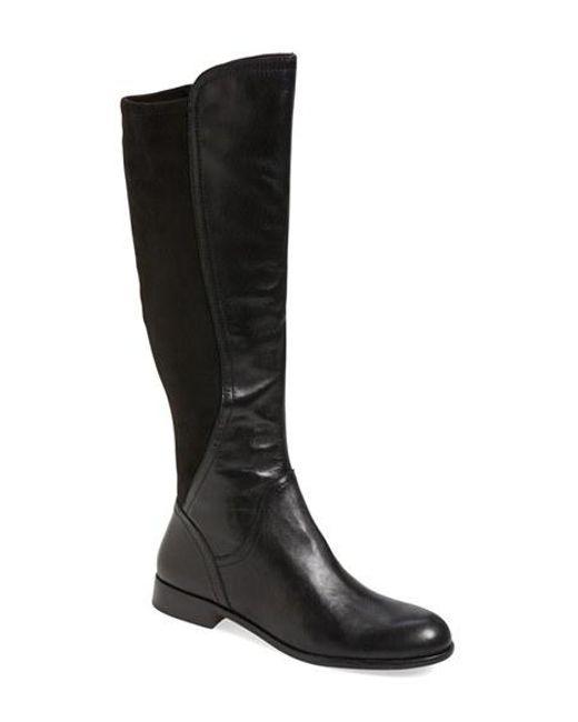 Franco Sarto   Black 'maleni' Stretch Riding Boot   Lyst