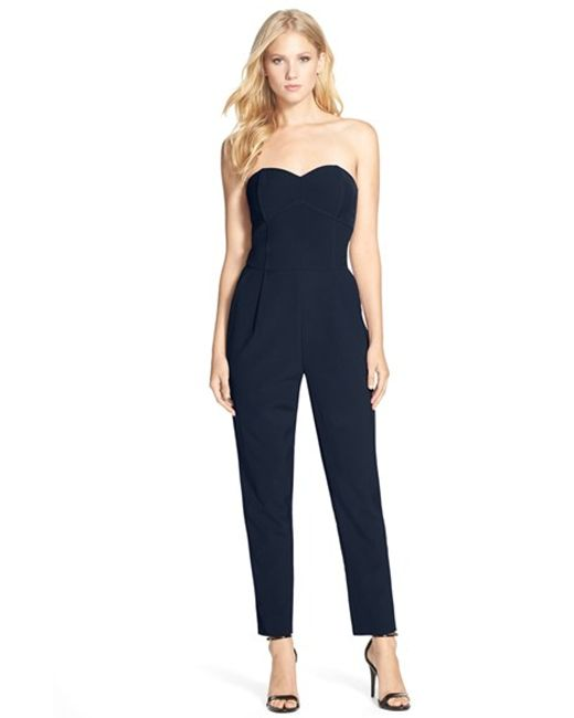 Adelyn Rae | Purple Strapless Jumpsuit | Lyst