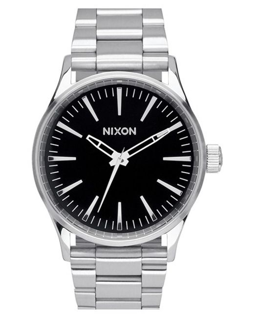 Nixon | Metallic 'the Sentry' Bracelet Watch for Men | Lyst