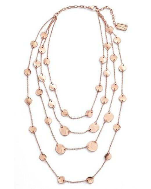 Karine Sultan - Metallic Manon Layered Necklace - Lyst