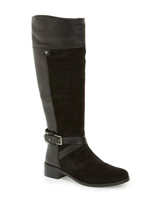 Vince Camuto | Black 'jaran' Riding Boot | Lyst