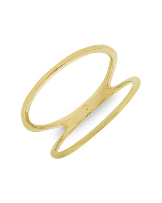 Bony Levy | Yellow 14kt Two Bar Ring (nordstrom Exclusive) | Lyst