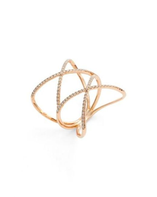 Bony Levy | Pink Diamond Double Crisscross Ring (nordstrom Exclusive) | Lyst