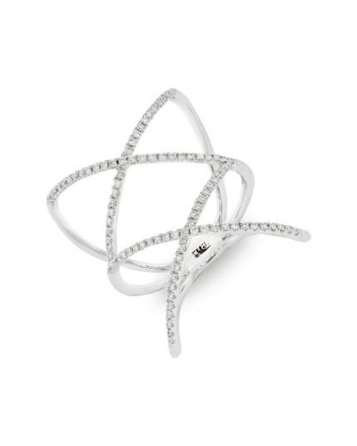 Bony Levy | Metallic Diamond Double Crisscross Ring (nordstrom Exclusive) | Lyst