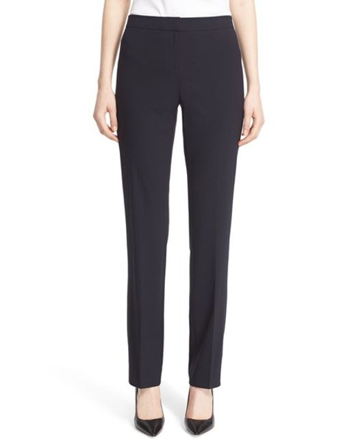 Lafayette 148 New York | Blue 'Barrow' Stretch Wool Pants | Lyst