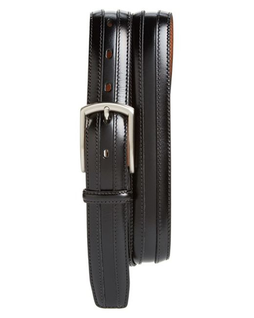 Johnston & Murphy | Black Calfskin Belt for Men | Lyst