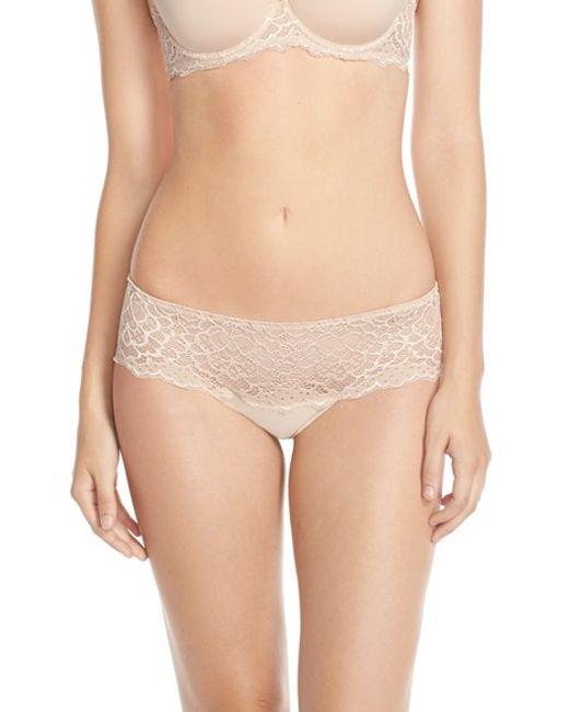 Simone Perele | Pink 'caresse' Lace Boyshorts | Lyst
