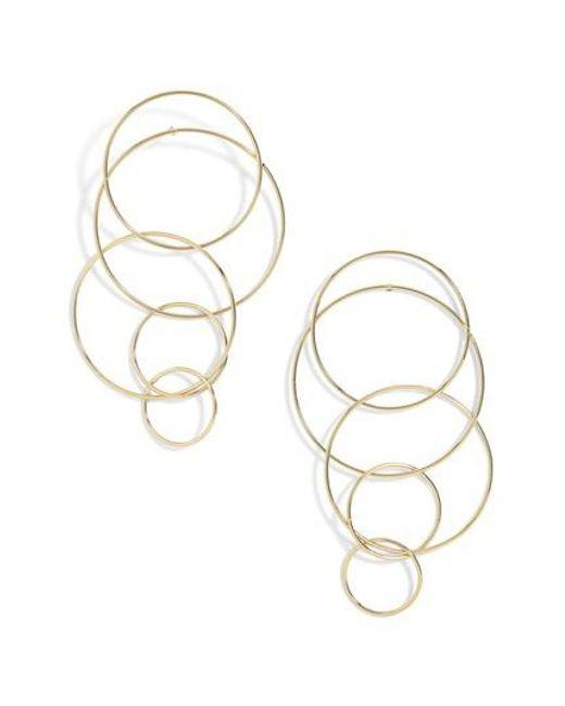 BaubleBar - Metallic Mixed Size Layered Hoop Earrings - Lyst