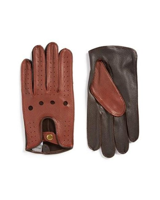 John W. Nordstrom | Black John W. Nordstrom Leather Driving Gloves for Men | Lyst